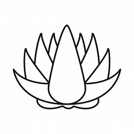 Vector Illustration Of Flower And Lotus Logo. Set Of Flower And Leaf Vector Icon For Stock.
