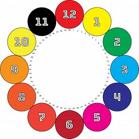 Clock Dial Enormous Numbers In Circle Hourly Swatch Black Seconds On Transparent Background