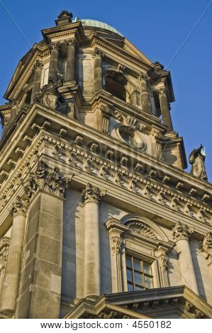 Statues And Dome On Berliner Dom Cathedral