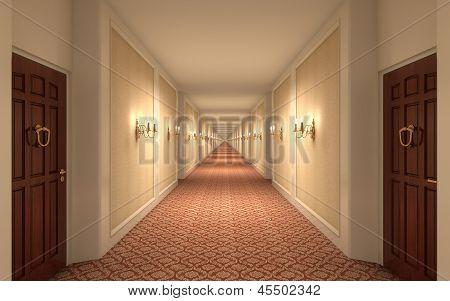 Endless Hotel Corridor