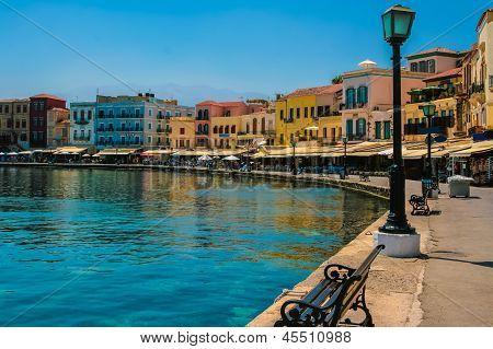 Promenade In Chania, Crete, Greece