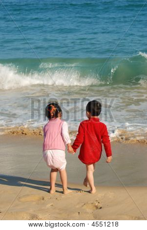 Kids In The Beach