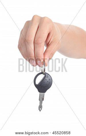 Woman Hand Giving A Car Key