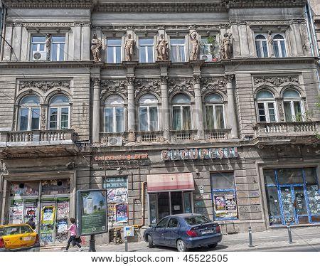 Bucharest, Romania - May 09: Cinema Bucuresti Facade On May 09, 2013 In Bucharest, Romania. The Buil