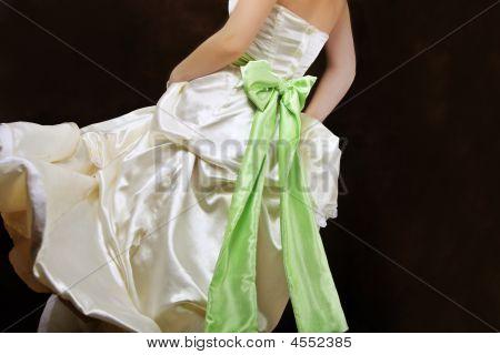 schöne Elfenbein Kleid