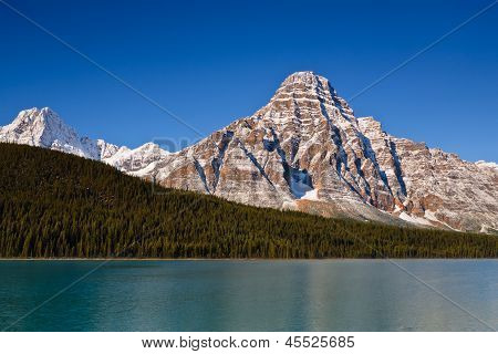 Mount Chephren And Waterfowl Lake