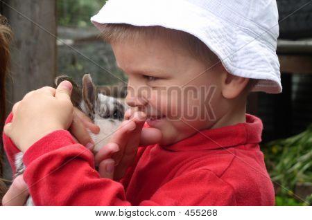 Child And Rabbit