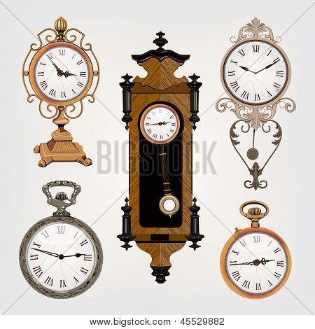 Set Of Vintage Clocks
