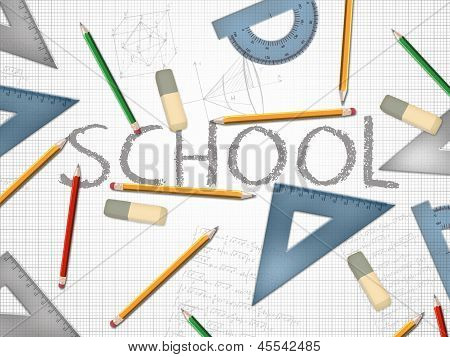School Word Concept Illustration