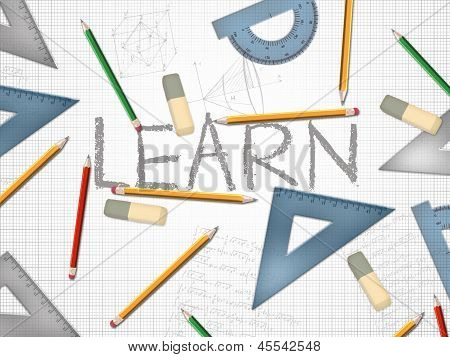 Learn Or Learning Word Concept Illustration