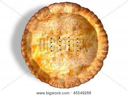 Golden Crispy Pastry Pie Top