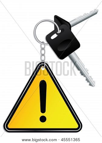 Keys And Warning Keyholder