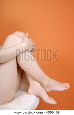 Female Feet With Copy Space