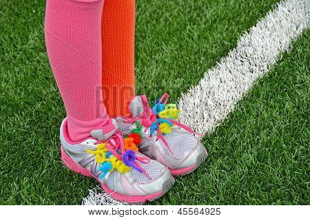 colorful pipe cleaners on shoes