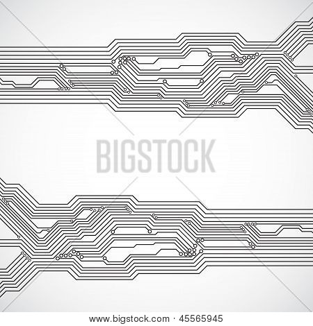 Circuit board background. EPS10 vector. See my other works in portfolio. poster