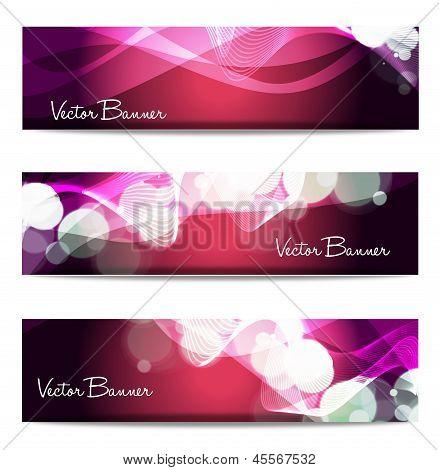 Vector Website Header Or Banner Set. Eps 10.