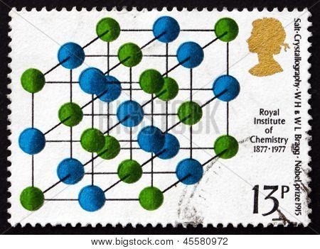 Postage Stamp Gb 1969 Salt Crystallography