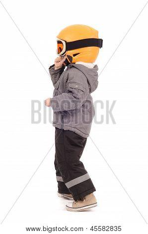Helmet and ski googles