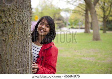 Teenage girl in outdoor