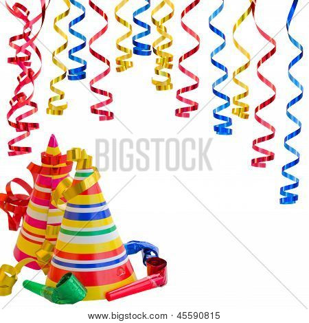 Hats and Serpentine for birthday party