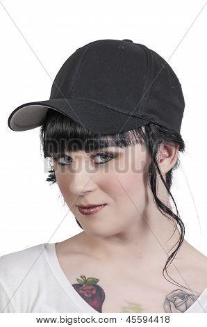 Woman Wearing Baseball Cap