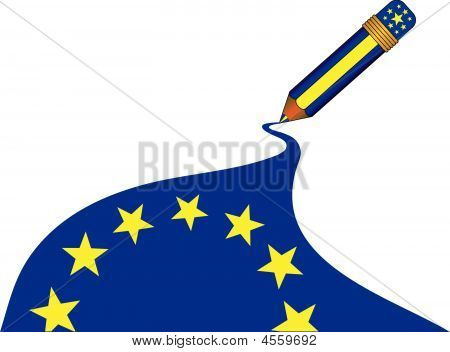 Magic Pencil European Flag