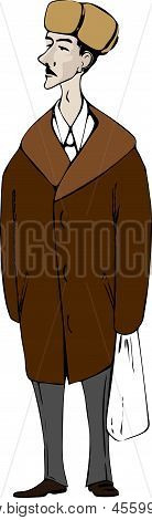 A Men In A Fur Coat