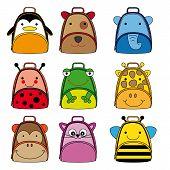 backpacks for school children  animal shaped backpacks. poster