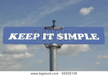 Keep it simple road sign with nature background