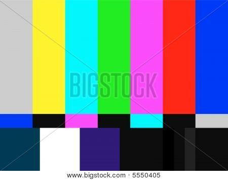 Sinal de TV barras coloridas