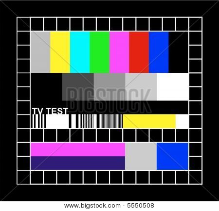 colored TV signal graphic