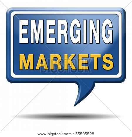 emerging market new fast growing economy frantic economies poster