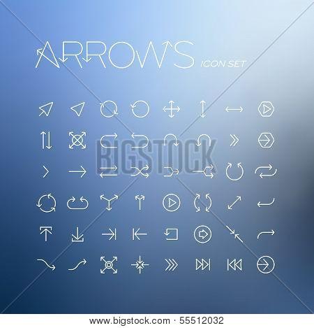 Vector arrows icon set
