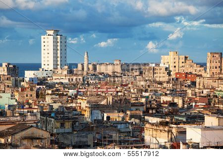 Old Havana slum sunny day