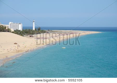 Playa del Matorral Canary Island Fuerteventura Spain poster
