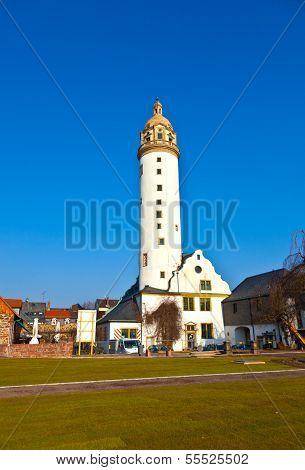 Famous Medieval Hoechster Schlossturm In Frankfurt