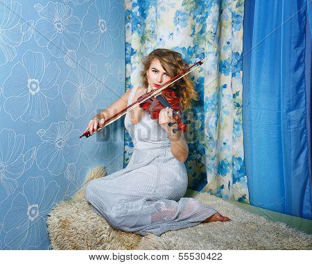 Girl And Violin