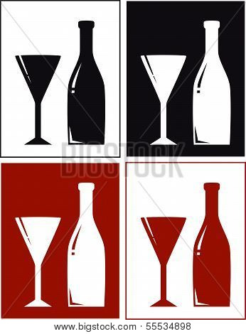 backgrounds with bottle and glass