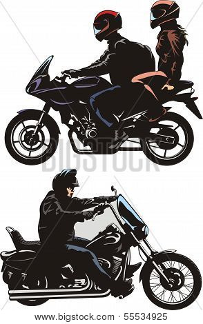 couple and man riding a bike