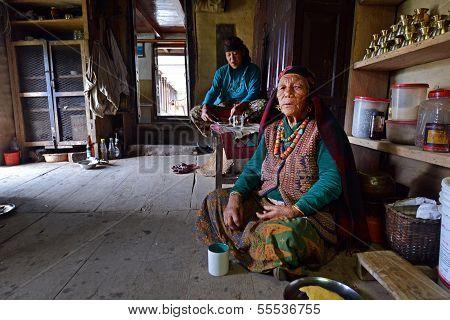 Nepalese Gurung woman