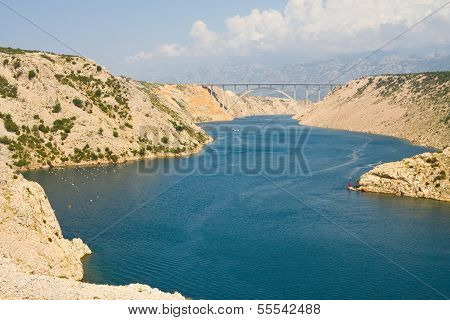 Maslenica Strait of the Adriatic Sea north of Zadar Croatia poster