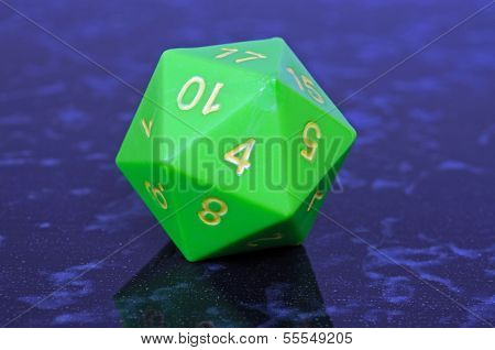Twenty sided dice.
