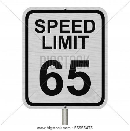 Speed Limit 65 Sign