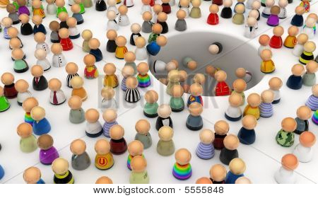 Cartoon Crowd, Hole