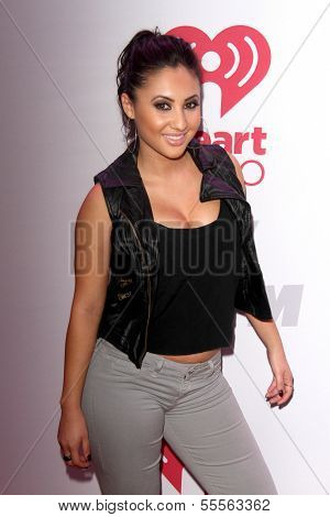 LOS ANGELES - DEC 6:  Francia Raisa at the KIIS FM Jingle Ball 2013 at Staples Center on December 6, 2013 in Los Angeles, CA