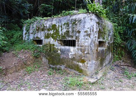 Old British Army WWII Pill Box