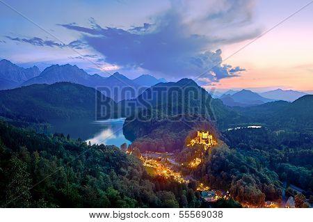 Castle Hohenschwangau, Bavaria, Germany.