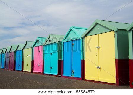 Brigton Beach Huts, England, United Kngdom
