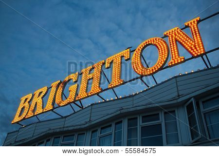 Brighton Pier Lights, England UK
