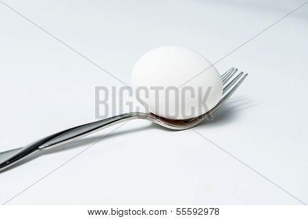 Egg on a Fork